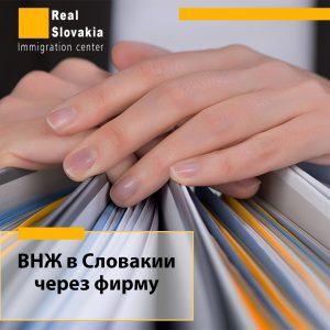 ВНЖ в Словакии через фирму
